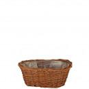 Basket jardiniere, green pasture, length 20cm, hei